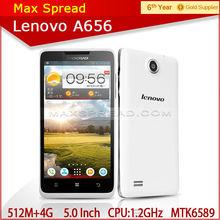 "Lenovo A656 5"" quad core dual sim 512MB /4GB 5.0MP 3G mtk6589 low cost handphone"