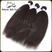 Natural Hair Products Natural Color No Chemical Processed Yaki Straight Genuine Indian Remy Hair for Sale