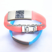 safety bracelet hang tags with laser engraving QR code