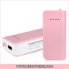 5V 1A 3000mAh External Mobile Battery Charger Power Bank with Stand & LED Flashlight for IPAD