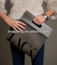 Aligator Emboss Paper Carrier Bag Die-Cut Handle