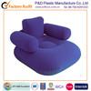 Inflatable PVC flocked single sofa with armrest,backrest