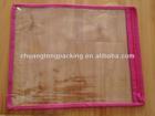 Brand high quality printed cheap pvc clear plastic bag for bedding