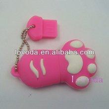 Novel paw shape usb pen memory thumb drives/cartoon shape usb flash memory/special usb stick/thumb drive LFN-206