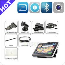 Full function GPS (Bluetooth,AV-IN,Fm) 7 inch car gps chip spy