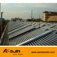 Solar Thermal Horizontal Direct Flow Vacuum Tube Solar Collector