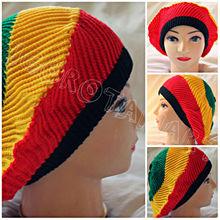 Women Men Beret Baggy Beanie Knitted Hat Ski Cap Jamaican Rasta Knit Hat Girl Boy