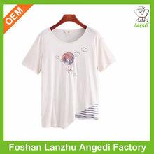 Embroided tshirt women fashion summer girls t shirt
