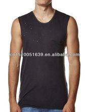 Bottom price new arrival clothing label jersey men's tanks top