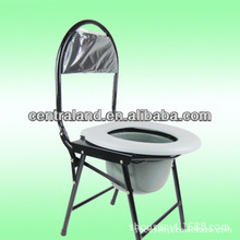 CL-C05 steel foldable commode chair without wheels