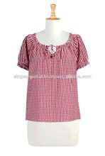 2014 nuevo estilo de moda de las señoras blusa de la parte superior( oem)