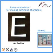 epoxy encapsulation for luminous characters
