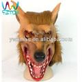 Máscara espírito lobo cabeça máscara eco- amigável cabeça cheia de animais a simulação de lobisomem máscara