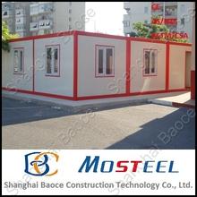 shipping 20ft standard prefab porta cabin movable