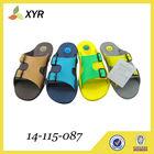 Breathable comfortable double color waterproof garden eva clog shoes sole designs