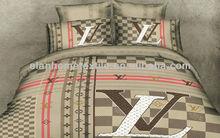 3D luxury brand design 100%cotton reactive printed bedding set