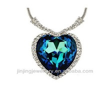 Titanic heart of the ocean pendant the ocean diamond necklace