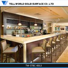 2014 TW Hot selling Quartz stone top artificial marble restaurant bar