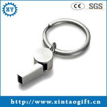 Wholesale Custom zinc alloy oval metal car bird call keyring