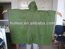 cheap & popular green PVC poncho