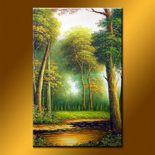Wholesale handmade forest landscape painting