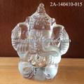 noble personalizado design indiano estatuetas de cristal elefante indiano estátuas decoração