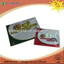 Printed plastic fish food bag /poly zipper bag packaging