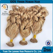 Grade AAAAA+ No Chemical Processed Virgin Machine Weft Wavy Hair