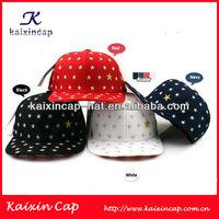custom flexfit star embroidery striped brim leather belt design your own logo cheap blank snapback cap/hat