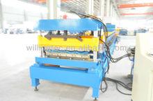 Automatic roof sheet gutter machine