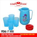Copo de gelo, gelo jarro, novo design de plástico de água do refrigerador copo conjunto