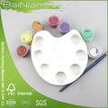 9 pc mini plastica tavolozza con oil colore della vernice e set di spazzole