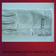 Buena calidad de soldadura utilizado importadores de guantes de cuero