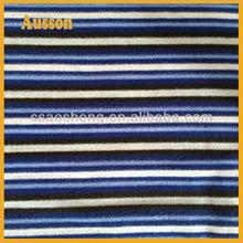 stripe printed polar fleece fabric white and black