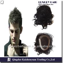 Top Quality 100% Brazilian Human Hair 6 Inches Men's Wig Toupee For Black Men