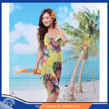 wholesale Summer lady beach pareo fashion beach sarong dress