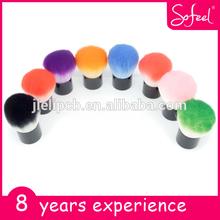 Sofeel colorful mini kabuki cosmetic blush brush/OEM and ODM