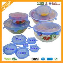 Custom Food Grade Silicone Stretch Lid Flexible Silicone Lid Seal