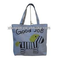 Illustrated Design Ladies Canvas Horse Tote Handbag(BXZZ017)