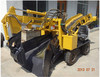 wheel type mucking haggloader for tunnel construction