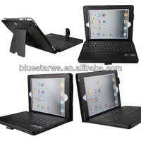 Cheap custom mobile phone cases Bluetooth Keyboard Leather Case For Ipad 2 3 4 stand leather case for ipad