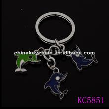 Customized fashionable souvenir keyring wholesale keychain mini dolphin shaped