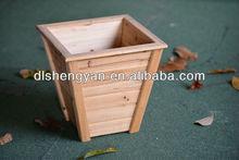Natural wooden handmade flower slat box,garden decoration planter box