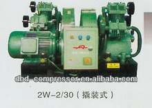 Low power high pressure small oil-injected air compressor with tank