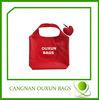 hot style eco-friendly nylon heart shape foldable bag
