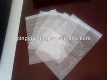 plastic bag with zipper