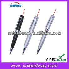 CE/ROHS/FCC orginal chip usb flash drive laser pointer ball pen