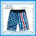 ที่ดีที่มีสีสันแฟชั่นชายหาดสบายๆหรือใช้คณะกรรมการกางเกงขาสั้นบุรุษนักมวยธงอเมริกัน