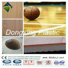 anti slip basketball floors / wood look PVC flooring