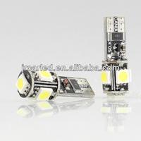 12V LED Car Light T10 5SMD CANBUS 5050